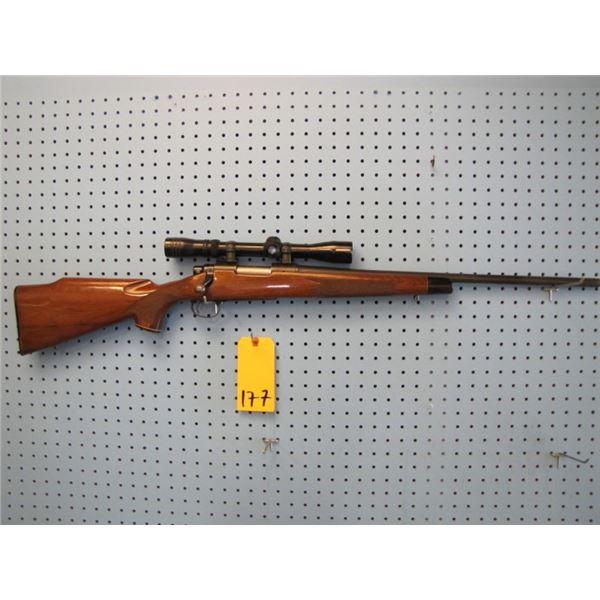 Remington model 700, bolt action, 17 REM calibre, hinged floor plate, Redfield 3 - 9 scope