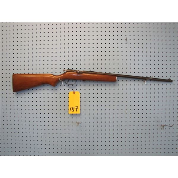Cooey model 39, 22 s, l, l r., single shot, has someone's SIN engraved on barrel