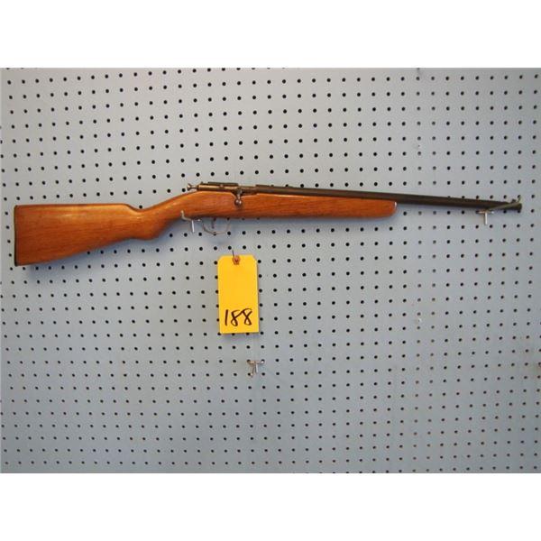 Ranger, bolt action, 22LR., single shot, has someone's SIN engraved on barrel