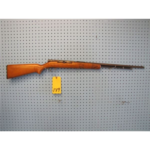 Springfield Stevens Arms Company model 87a, Semi Auto, 22 s, l, LR., 2 magazine, stock cracked, braz