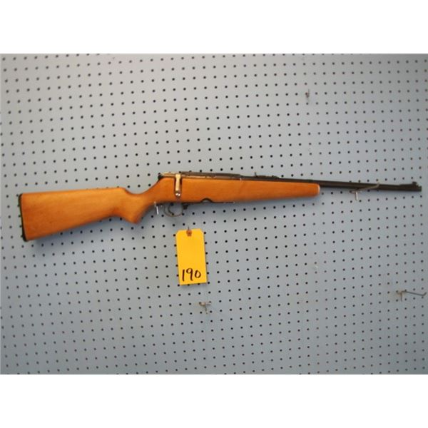Stevens Savage Arms Model 325A, bolt action, 30 - 30, clip, has someone's SIN engraved on barrel