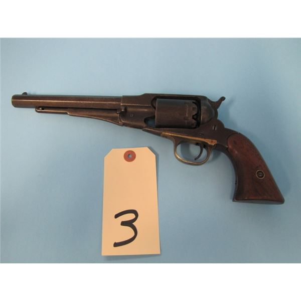 ANTIQUE:  Remington new model Navy model 1861, .36 calibre cap and ball, 6 shot, 7 3/8 in Barrel, Ma