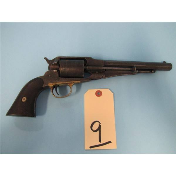 ANTIQUE:  Remington New Model Army, Factory conversion, with ejector, 44 rimfire, 6 shot, 8 inch bar