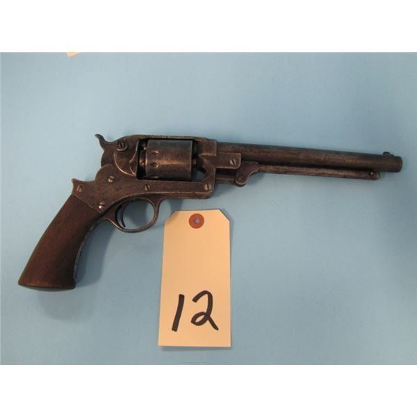 ANTIQUE:  Star, model 1863, S. A. Revolver, 44 calibre cap and ball, 6 shot, 8 inch barrel, made 186