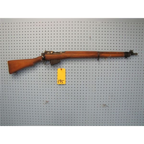 Lee Enfield number 4, bolt action, 303 calibre, fullwood, not original clip. was originally a 22 cli