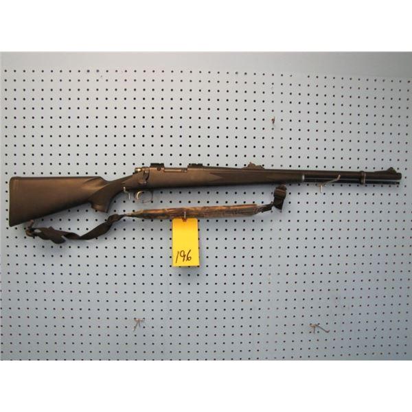Remington model 700 ml, muzzleloader, bolt action, 50 calibre, synthetic stock, scope rails