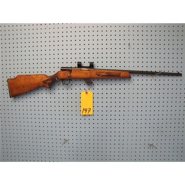 Lakefield Mark II, bolt action, 22 calibre, clip, side mount scope rings