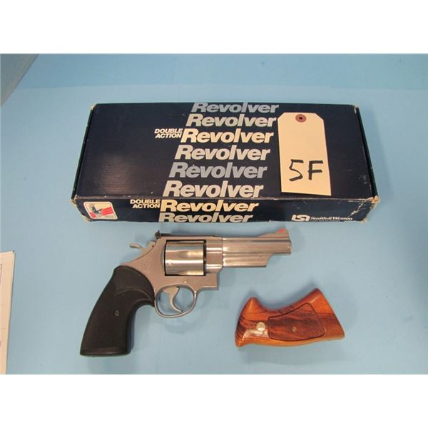 "PROHIBITED:  S&W model 629 revolver, 44 magnum, 4"" barrel, serial #AVV7xxx, w original box,  origina"