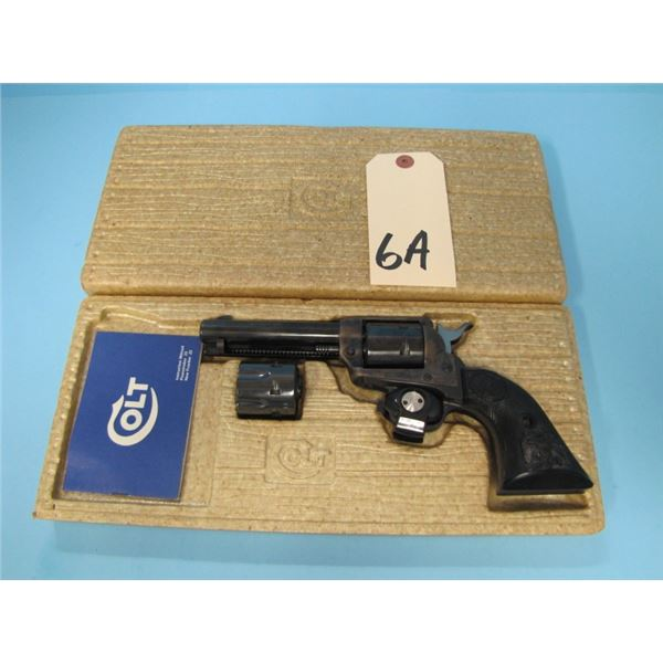 """RESTRICTED:  Colt Frontier 22 lr with 22 magnum cylinder, 4 1/2"""" barrel, serial #G146XXX,  with orig"""