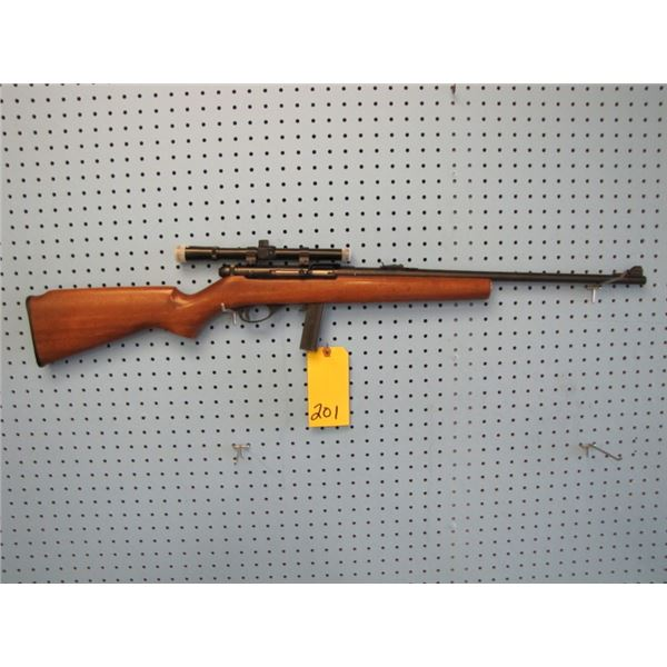 Squires Bingham model 20p, semi-auto, 22 long rifle only, clip, sights, Tasco 4X 1.5 scope, imported