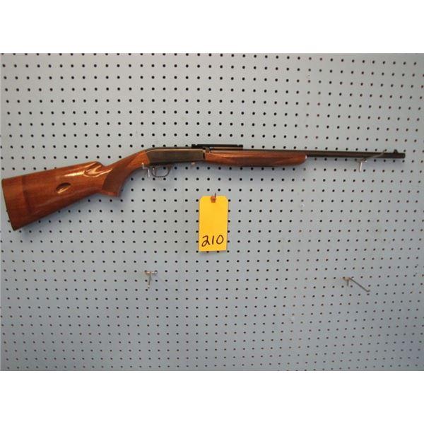 Browning SA22, semi automatic, Caliber .22 long rifle, tube magazine in the stock, scope mounts
