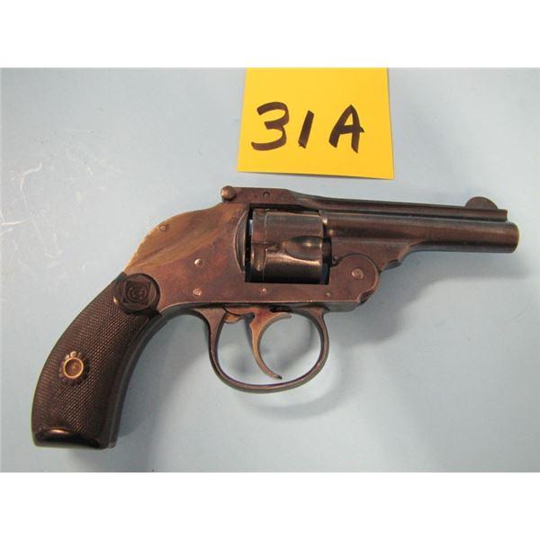 PROHIBITED:  Harrington and Richardson, top break automatic ejecting hammerless, 32 Smith & Wesson,