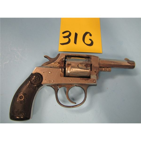 PROHIBITED:  Iver Johnson, 1900 double action, revolver, 5 shot, 32 Smith & Wesson, double action, H
