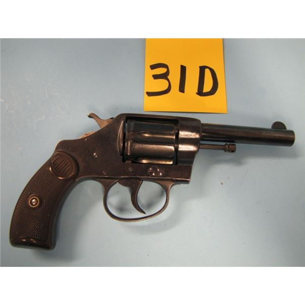 PROHIBITED:  Colt, new pocket, revolver, 32 Smith & Wesson long, 6 shot, double action, barrel lengt