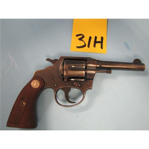 PROHIBITED:  Colt, police positive, revolver, 38 Smith & Wesson, 6 shot, barrel length 102 mm, doubl