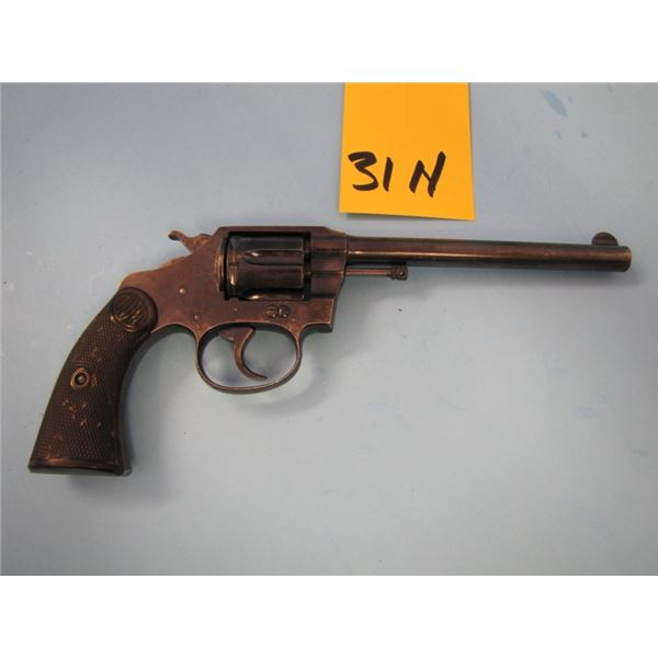 PROHIBITED:  Colt, new police 32, revolver, 32 Smith & Wesson long, 6 shot, barrel length of 152 mm,