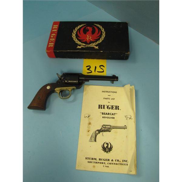 PROHIBITED:  Ruger, Super bearcat, revolver, 22 long rifle, 6 shot, barrel length 102 mm, single act