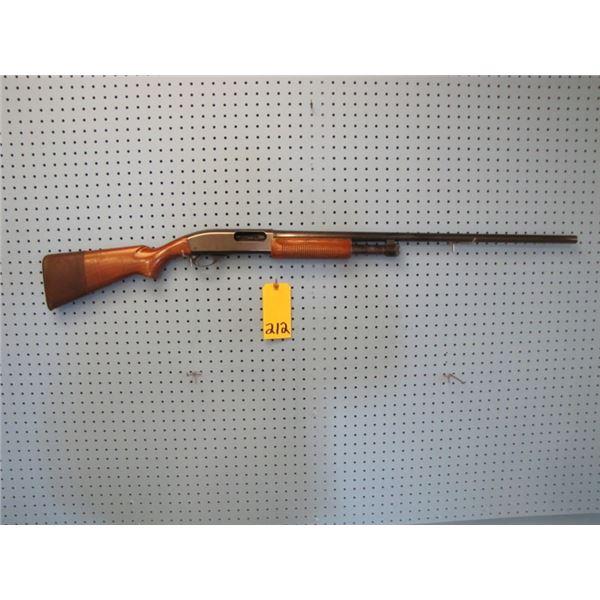 Remington Model 870, pump-action, 12 gauge 2 and 3/4, full choke, has a social insurance number engr