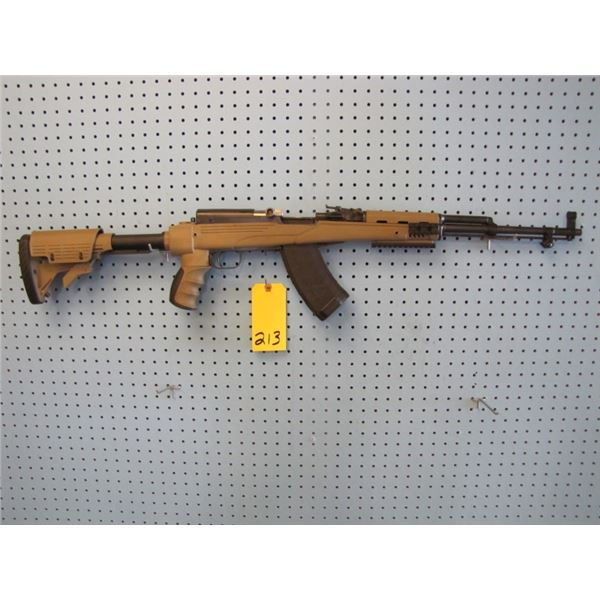 SKS, Semi Auto, 7.62x39 caliber, customized with ATI poly stock and Tapco removeable clip. Markings