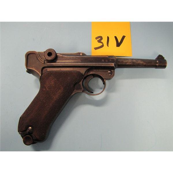PROHIBITED:  Luger, P08, Semi Auto, 9mm, Barrel 102 mm,