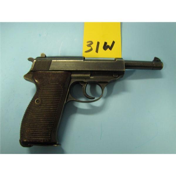 RESTRICTED:  Walther, P38, Semi Auto, 9mm, 8 Shots, barrel 127mm