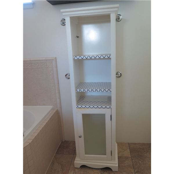 "Narrow Cabinet w/Shelving, Approx. 5ft Tall, 18""Width, 13""Depth"