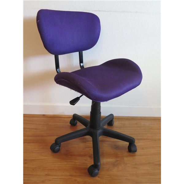 Purple Rolling Office Chair