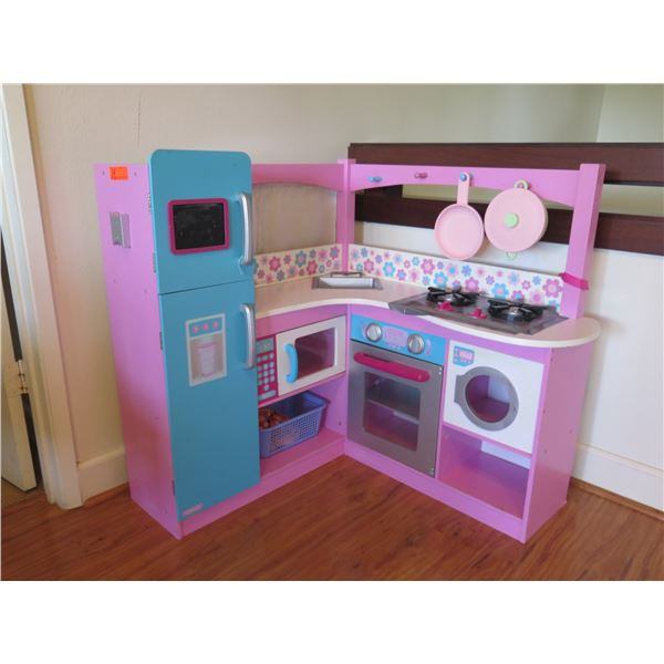 "Role Play Kids Kitchenette (shows signs of wear & duct tape on top surface) Approx. 36""H"