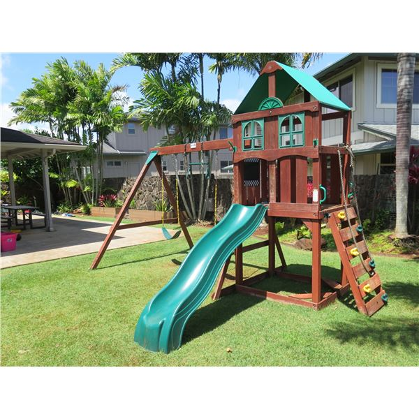 Gorilla Playsets Playground Set with Swings, Slide, Climber, etc (buyer responsible for disassembly)