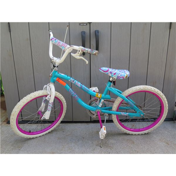 """""""Girl Talk"""" Kids Bike w/ Blue & Pink Paisley Motif (see pictures for measurements)"""