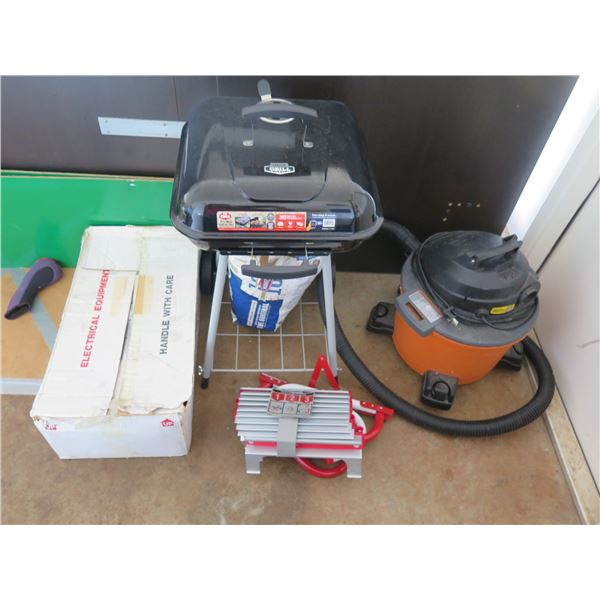 Charcoal BBQ Grill, Emergency Escape Ladder, Shop Vac, Hatco Food Warmer, Stick 'n Step Strips