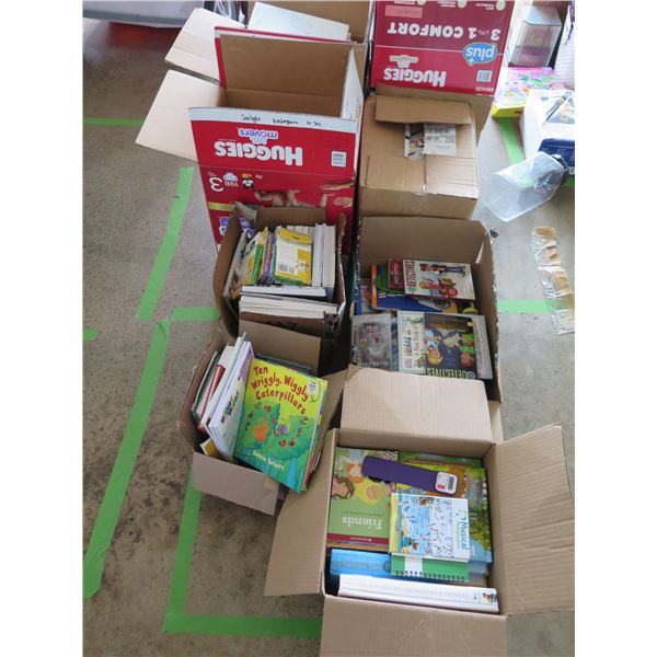 Approx. 8 Boxes of Children & Misc. Books - C.S. Lewis Book Series, etc.