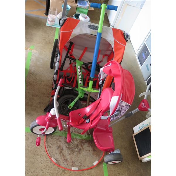 Bike Trailer, Kids Green Bike, Pink Kids Trike, Pogo Stick