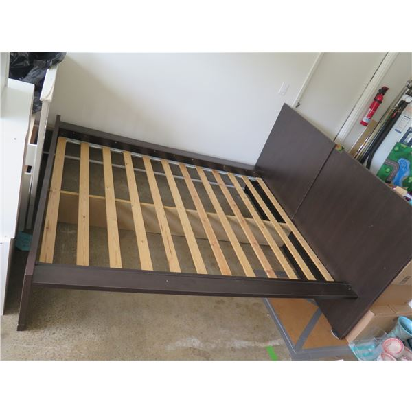 "Bed Frame with Headboard 72"" x 84"" x 42"" H"