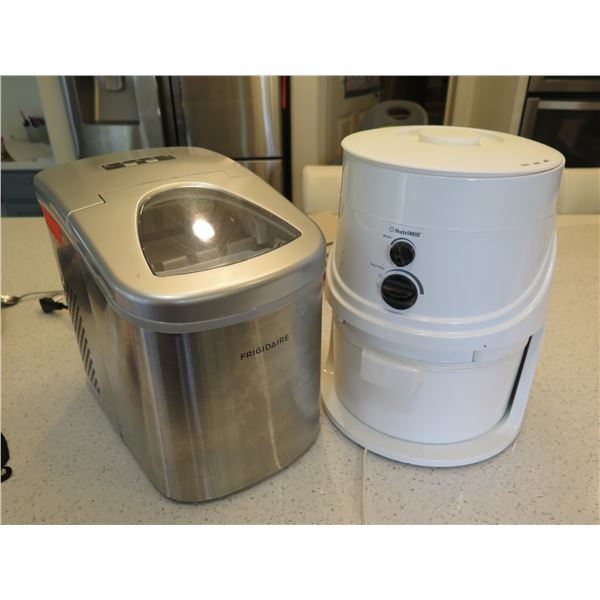 Mini Frigidaire Ice Maker Model EFIC117-SS and NutriMill HS4.3 Flour Grinder