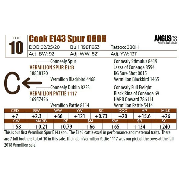 Cook E143 Spur 080H
