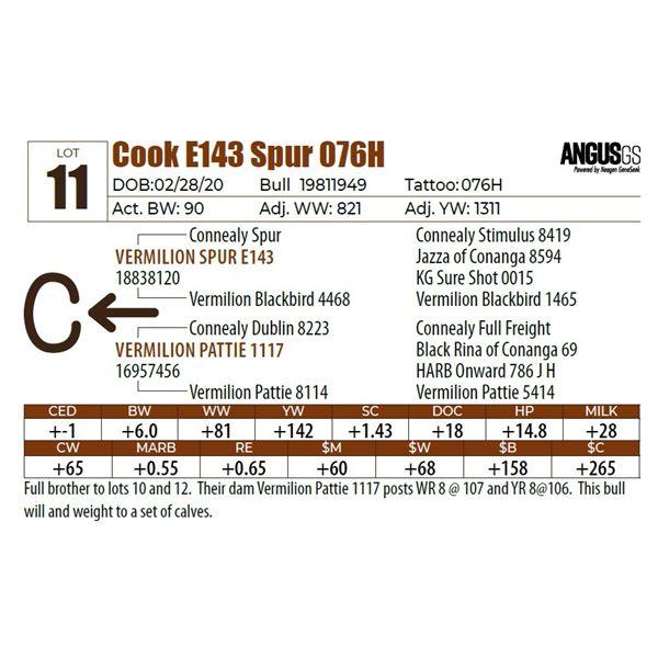 Cook E143 Spur 076H