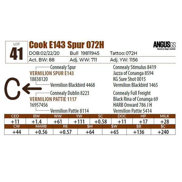 Cook E143 Spur 072H