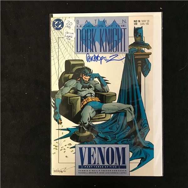 BATMAN LEGENDS OF THE DARK KNIGHT #18 (DC COMICS) Signed by Garcia Lopez