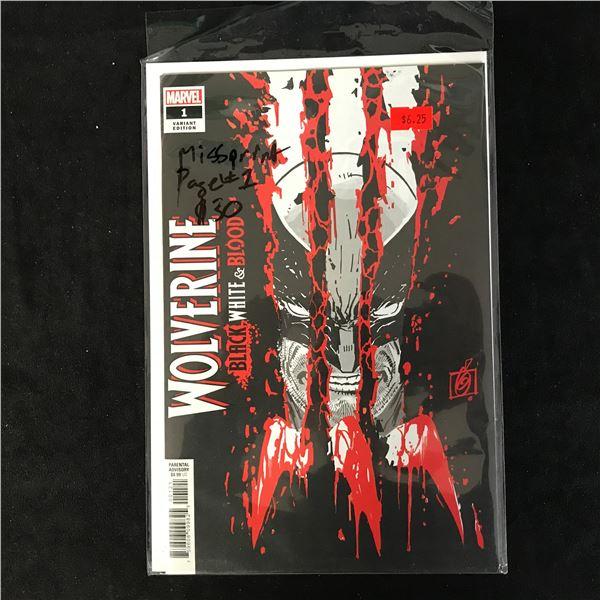 WOLVERINE Black, White & Blood #1 (MARVEL VARIANT)