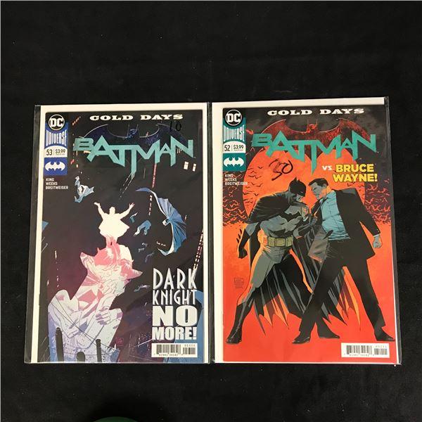BATMAN #53/ #52 (DC UNIVERSE)