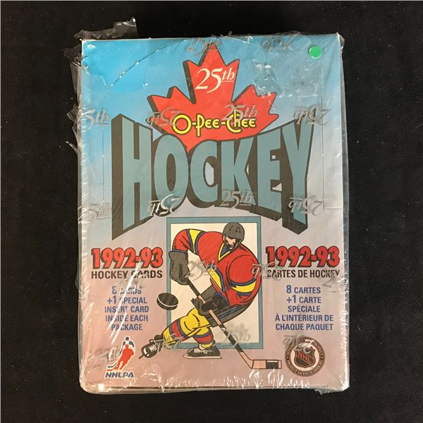 1992-93 O-PEE-CHEE HOCKEY CARDS BOX