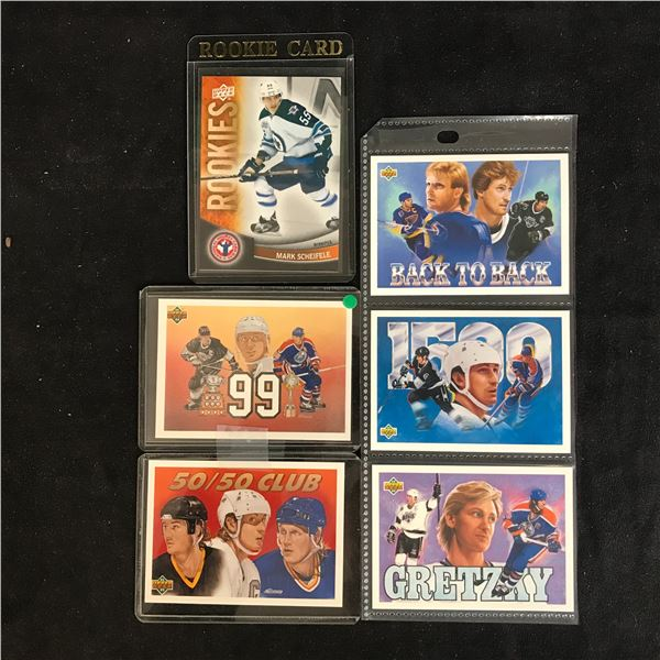 WAYNE GRETZKY UPPER DECK HOCKEY CARD LOT