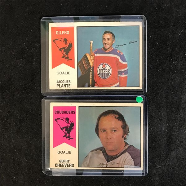 1974-75 O-Pee-Chee WHA Hockey Card Lot (G. Cheevers/ J. Plante)