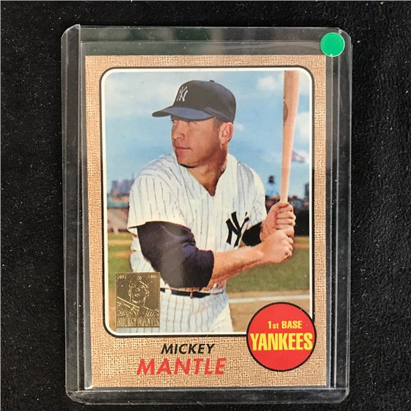 1996 Topps Mickey Mantle 1st Base Yankees Reprint Commemorative Card