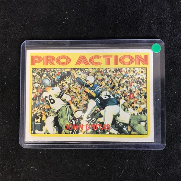 1972 TOPPS #251 JOHNNY UNITAS PRO ACTION