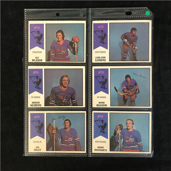 1974-75 O-PEE-CHEE WHA HOCKEY CARD LOT