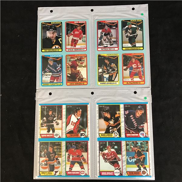 1989-90 O-PEE-CHEE HOCKEY BOTTOM CARD LOT