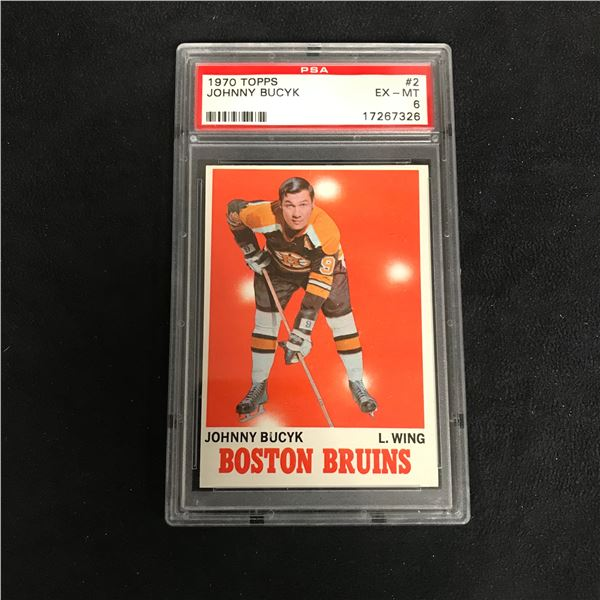 1970 TOPPS #2 JOHNNY BUCYK (EX-MT 6)