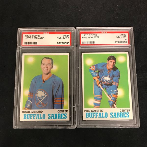 1970 TOPPS GRADED HOCKEY CARD LOT (#124 MENARD/ #127 GOYETTE)